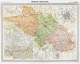 Historische Karte: Provinz SCHLESIEN im Deutschen Reich - um 1910 [gerollt]: Carl Flemmings Generalkarte, No. 8. Regierungsbezirke Liegnitz, Oppeln, ... Breslau. Fürstenstein und Salzbrunn